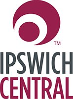 Ipswich Central red and grey logo